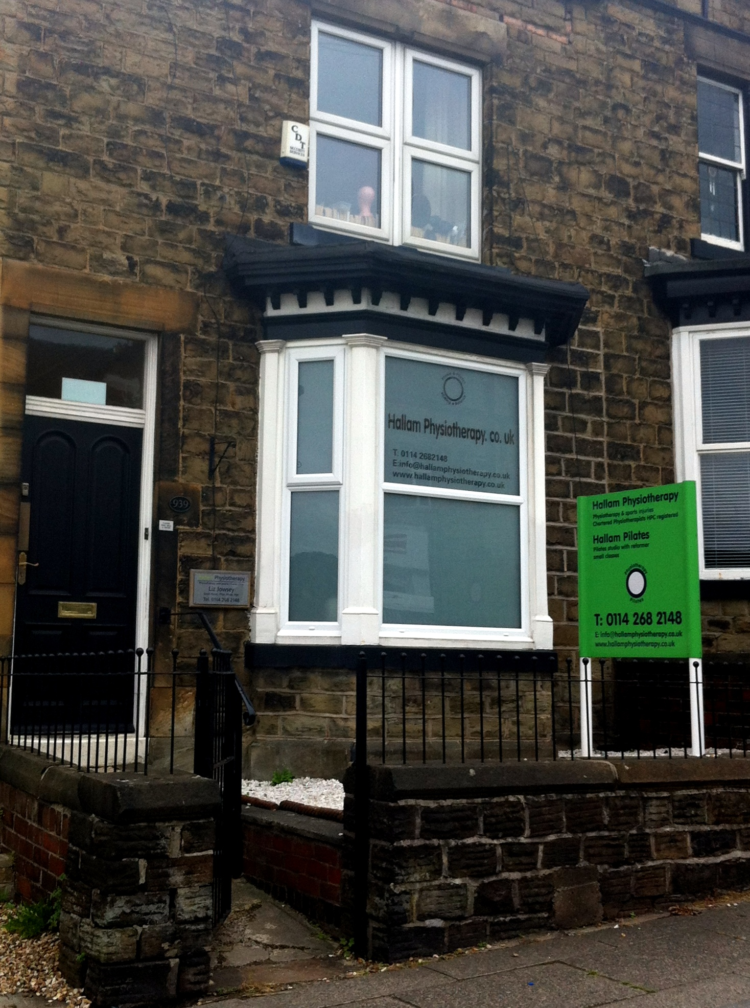 Hallam Physiotherapy Clinic Banner Cross Sheffield